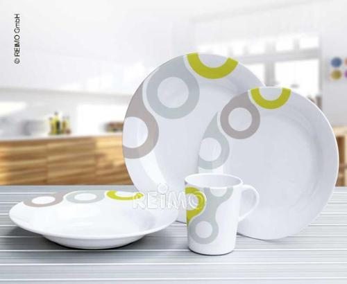 Melamine Tableware Set, NOVARA Camp4, For 4 People/16 Parts