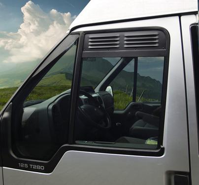 Fahrerhaus Lüftungsgitter: Be- und Entlüftung für Fahrerhaustür-Fenster