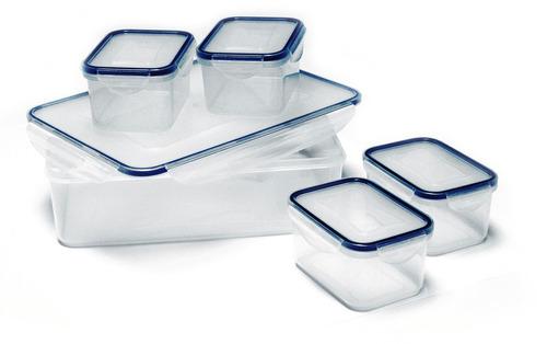 Vorratsdosen / Frischhaltedosen Set transparent mit Deckel, 5-teilig