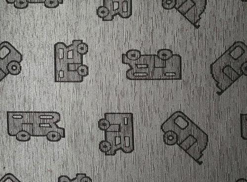 Woonkamer tapijt 50x150cm grijs, patroon, 45% polyester/55% katoen
