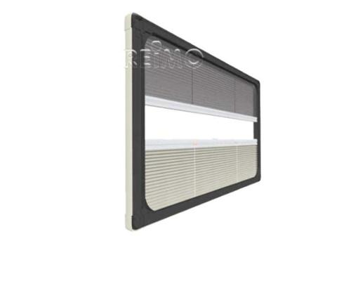 Duo pleats UCS profile set from width 900, grey