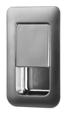 Serrure de porte 36x59mm chrome satiné épaisseur de porte 12-18mm