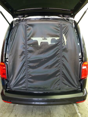 VW Caddy tailgate netting