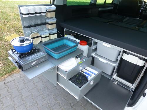 Campingbox L-CM voor T6 Multivan + California Beach