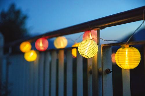 LED fénylánc napelemmel + akkumulátorral