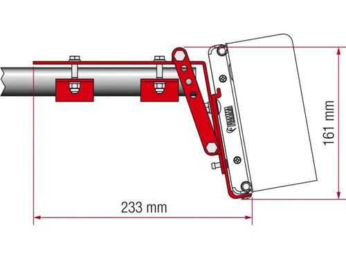 Roof Rail Kit Adapter F45Ti, F45Ti L, ZIP - Kastenwagen