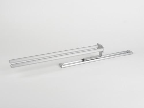 Verlengbare handdoekhouder - 2 aluminium staven