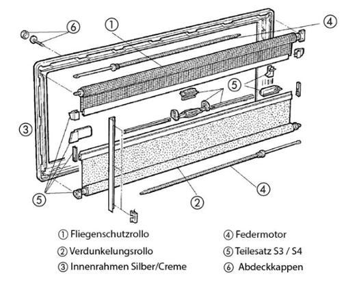 Dometic Abdeckpappen elfenbein Ø 9 mm 12 Stück