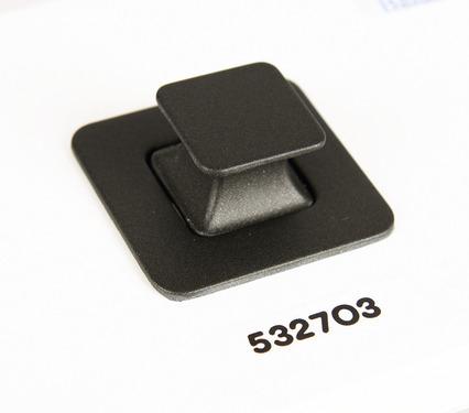 Cerradura con pulsador Cerradura para muebles, gris oscuro mate