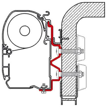 Kit d'adaptateurs F1/F45i/ F45iL Hymer Camp