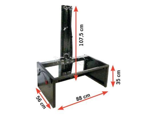3-point belt trestle W88 x D56 x H107,5 cm