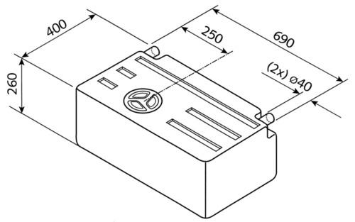 Frisch u. Abwassertank EV1301