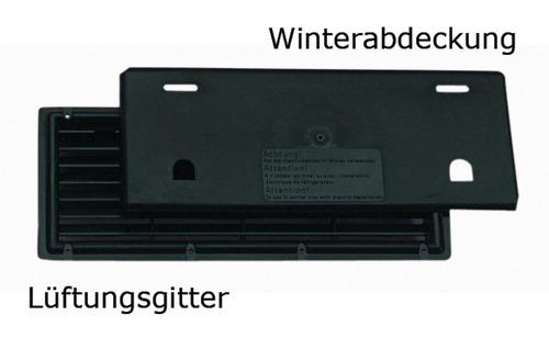 Lüftungsgitter 375x150 mm, Winterabdeckung