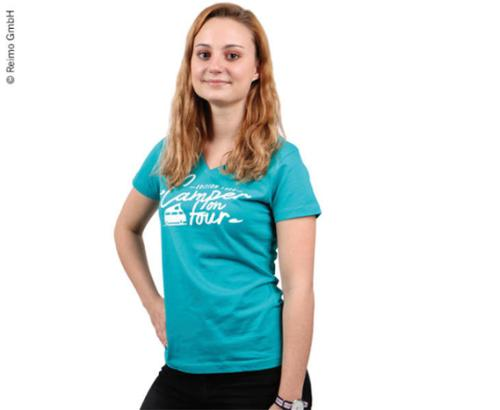 """Ladies T-Shirt Holiday Travel """"Camper on Tour"""" Collection"""