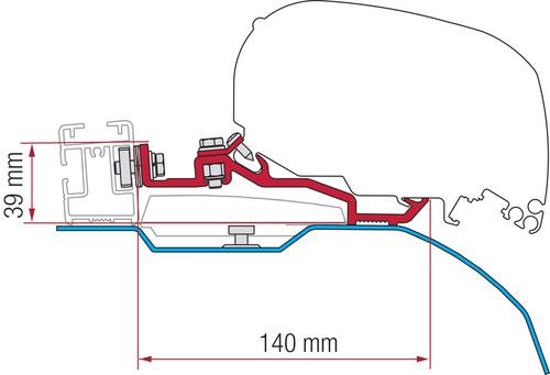 Fiamma Adapter Kit Smart Clamp Ducato F80s