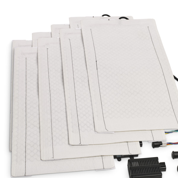 MSH300 Recessed seat heater Carbon 4-piece for 2 seats