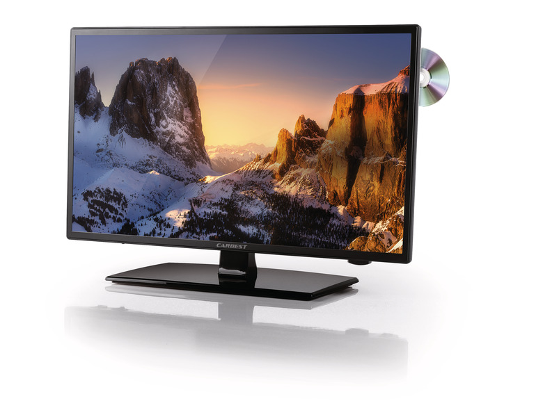 TV LED widescreen con triplo sintonizzatore DVB-T2 / -S2 / -C -