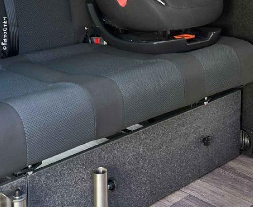 Soveplads på forsiden VW T6 / 5 V3000 stift Gr.17 Dekoration Basalt monteret