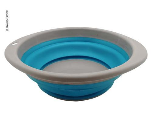 Foldable bowl Ã?23,5cm H3/10cm, grey/lime