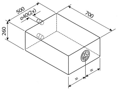 Réservoir d'eau EV 1801 - 85 litres