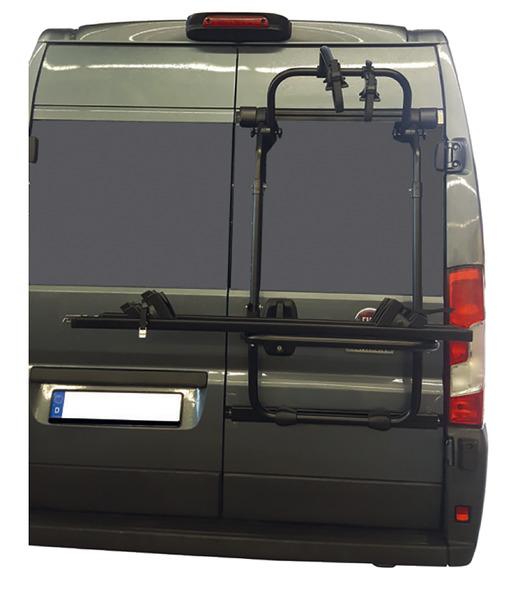 EuroCarry Heckträger VW Crafter >2016 für 2 Räder, schwarz