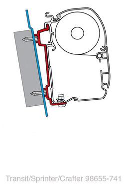 FIAMMA Adapter Ford Transit/ Sprinter/VW Crafter 06
