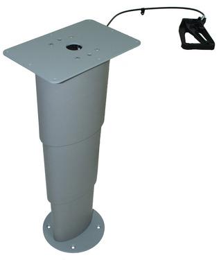 Table élévatrice à colonne simple Primero Comfort, 310-670mm, gris argenté
