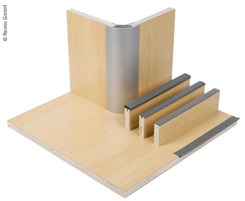 Panneau de meuble Stratifié érable, HPL, 1/4 panneau