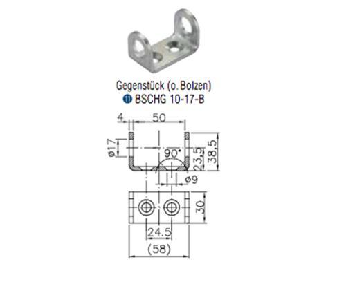 Winterhoff bolt for counter piece BSCHG 10-17-B
