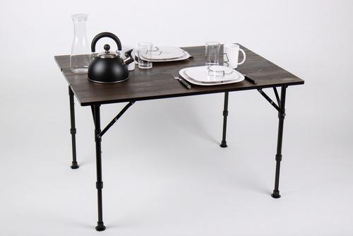 Luxury, Folding Camping Table, 100x70 cm, Wood-Design