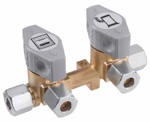 2-vägs snabbstängningsventil för 10mm inlopp & amp; 8mm uttag