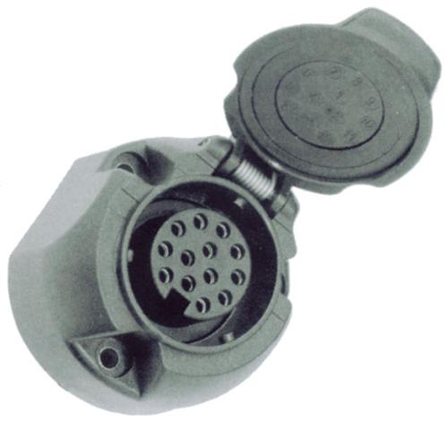 13-pole trailer socket with switch-off contact for rear fog light