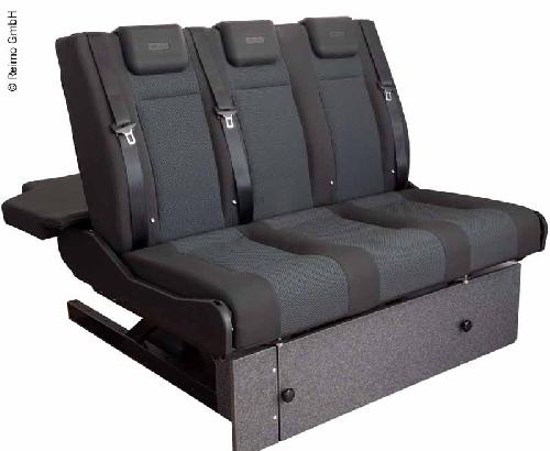 Sleeping bench VW T6/5 V3100 size 10 rigid, 1205 mm wide, 3-seater, upholstered