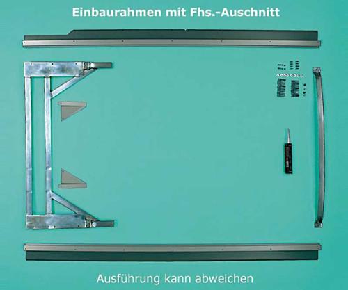 Cadre de montage VWT5 kR avec découpes Fhs commande à droite
