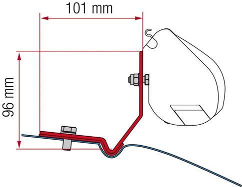FIAMMA Adapter für F35, VW Caddy Maxi, deep black