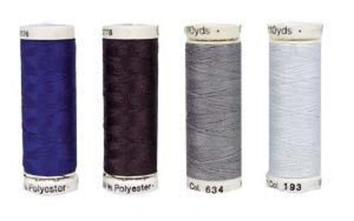 Tent yarn in blue, black, brown, grey or white