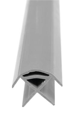 Eckverbindungsprofil Luxus (mittelgrau)