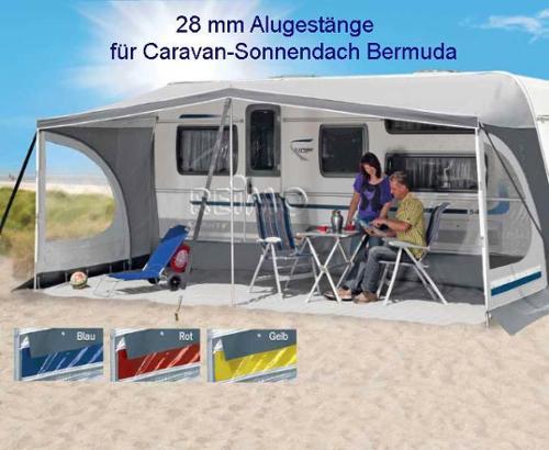 Alugestänge 28mm für Herzog Caravan-Sonnendach Bermuda