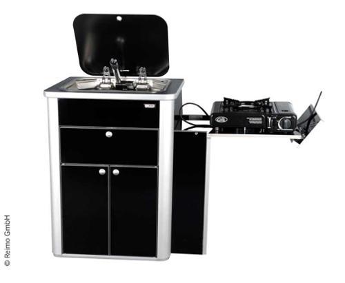 Multivan Pantry-Küche, Fertigteil mit Spüle, Glasabdeckung und Technik