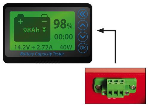 Display, zum Anschluss an ENERG-E Lithium-Batterien