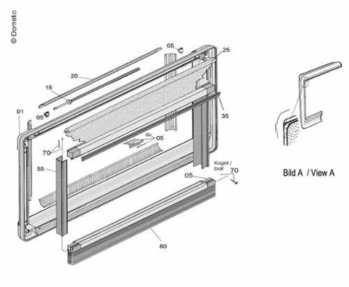 Teilesatz Innenrahm. grau Teilesatz Innenrahmen Seitz S5 Fenster grau
