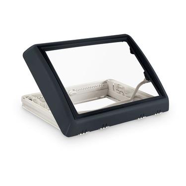 Midi-Heki Style 700x500mm grau Bügel mit Zwangsbelüftung