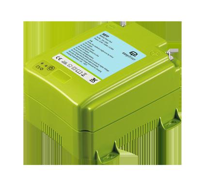 2 i 1 batteri og oplader i en