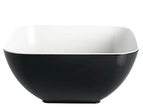 Skål QUADRATO, sort og hvid, 100% melamin