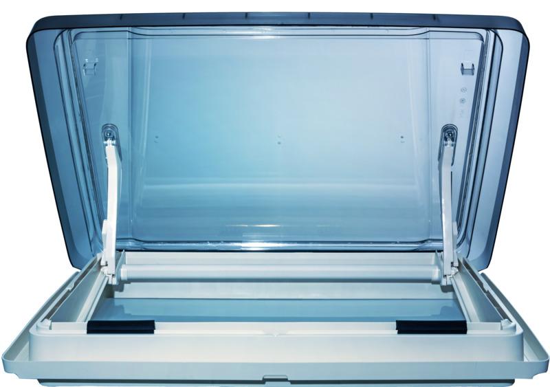 Vision Star L al metro LED, 700x500mm, bianco, vetro fumé, doppia tenda plissettata