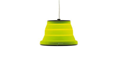Lampe Sargas 230V, dimmbar, lime, faltbar, Ø20cm