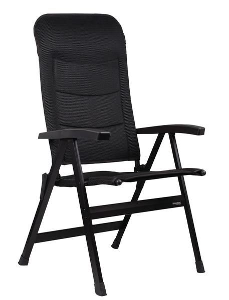 Chaise de camping ROYAL, anthracite, jusqu'Ã 150 kg de charge