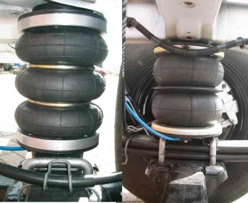 SMV air spring systems for the rear axle