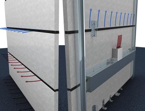 Tobera de ventilación 603x14x25 mm, negro, suministro y salida de aire