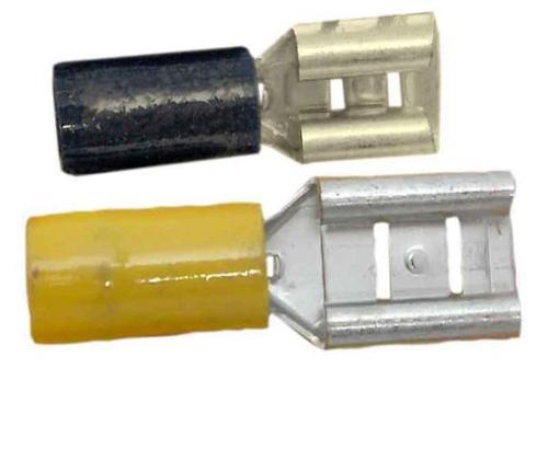 scarpe piatte ad innesto - Connettore cavo 9,5mm giallo 2pc